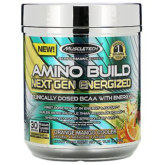 Muscletech, Amino Build Next Gen Energized, Orange Mango Cooler, 10.09 oz (286 g