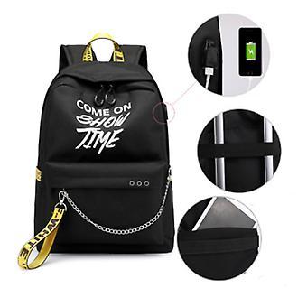 Grundskolan uppladdningsbara casual ryggsäckar