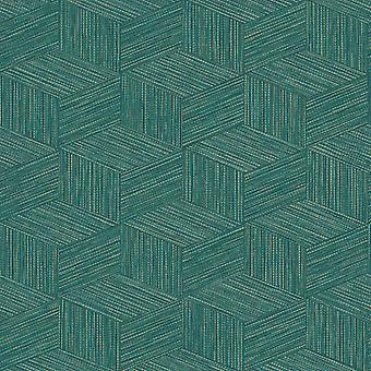 Bakau Geometric Wallpaper Teal Holden 65644