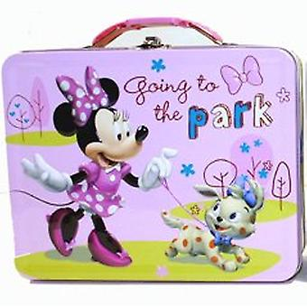 Lunch Box - Disney - Minnie Mouse - Going to the Park Pink Tin 527627
