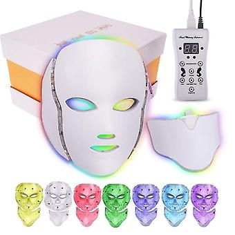 7 väriä Led Therapy Light Photon Kasvonaamio kone ryppy akne poistaminen,