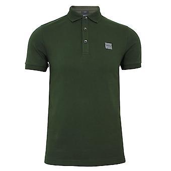 Hugo boss men's open green passenger polo shirt