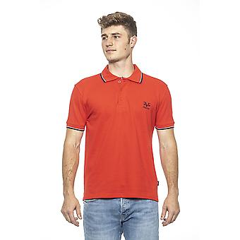 Rosso red essential muscle fit polo shirt