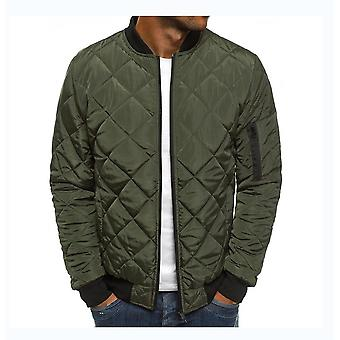 Mens Bomber Jackets Zip Up Baseball Slim Fit Fall Winter Coat Outwear Pockets