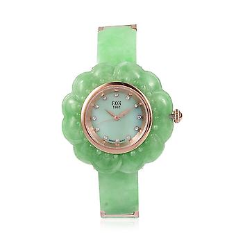 EON 1962 Jade MOP Swiss Movement Water Resistant Watch for Women and Girls