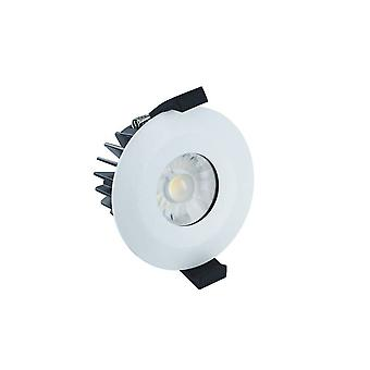 LED Low Profile IP65 Fire Rated Downlight Recessed Spotlight 6W 4000K 440lm Dimmable Matt White IP65