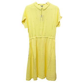 Joules Etty geborduurd Casual Elasticated Dress (gele Citroen)