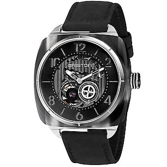 Briston Streamliner Skeleton Black Dial Black Leather Strap 201042.SA.G.1.CH Men's Watch