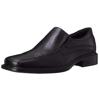 ECCO Men's Shoes Jersey Slip-On Leather Square Toe Slip On Shoes
