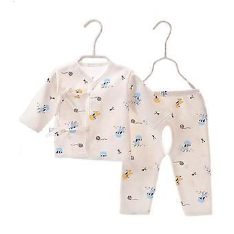 Kids Baby Infant Cute Printing Cotton Gowns Top+pants