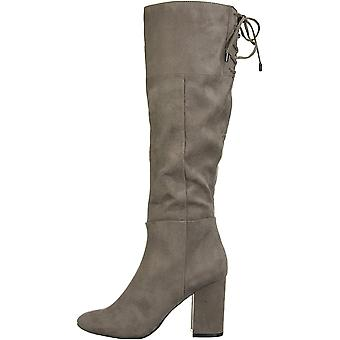 Kenneth Cole New York Women's Shoes Corie Lace Fabric Closed Toe Knee High Fashion Boots
