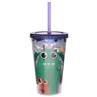 Monsters Monstarz Double Walled Cup with Lid and Straw