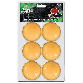Formula Sports Table Tennis Balls Orange 6 Pack