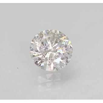 Certified 0.48 Carat D SI1 Round Brilliant Enhanced Natural Loose Diamond 4.97mm