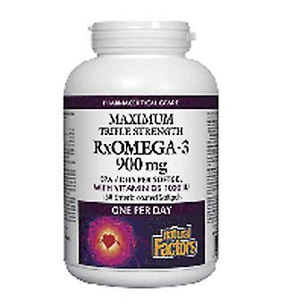 גורמים טבעיים אולטרה כוח RxOmega-3 גורמים, 150 כמוסות רכות