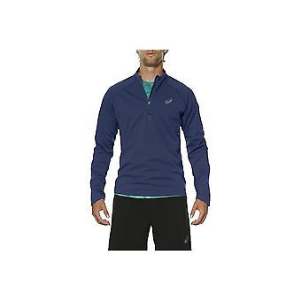 アシックス富士トレイルLS 12ジップ1303088133ユニバーサルオールイヤー男性スウェットシャツ