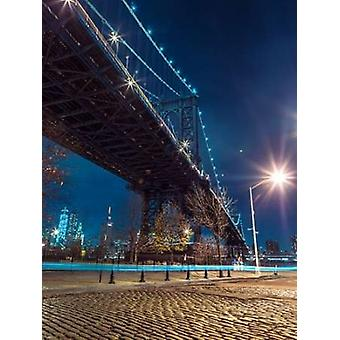 Manhattan Bridge nad east river na Zmierzch New York Poster Print Assaf Frank