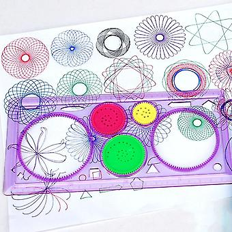1pc Spirograph Geometric Rule - Learning Drawing Tool Stationery