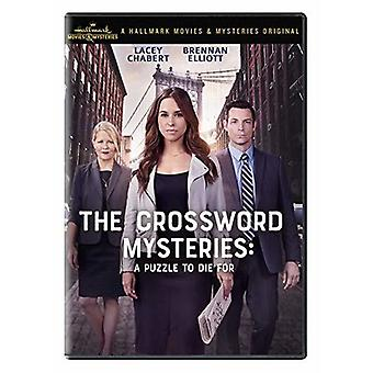 Crossword Mysteries: Puzzle To Die For [DVD] USA import