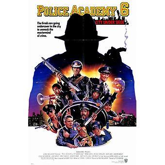 Poliisiopisto 6 kaupungin piiritys elokuvajuliste (11 x 17) mukaan