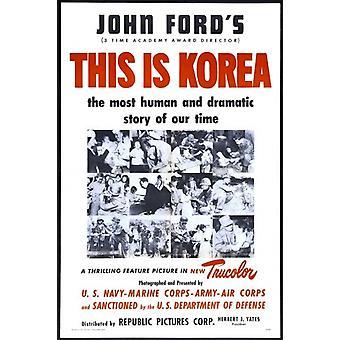 Este é o Poster do filme de Coreia (11 x 17)