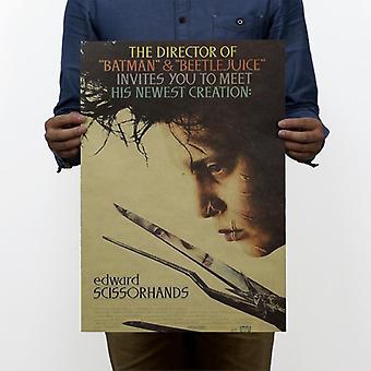 إدوارد Scissorhands خمر كرافت ورقة كلاسيكية ملصق الفيلم