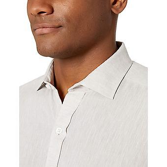 BUTTONED DOWN Men's Tailored Fit Casual Linnen Katoen shirt