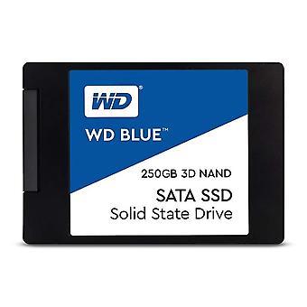 Western digital wds250g2b0a wd blue 3d nand internal ssd 2.5 inch sata, 250 gb - black single