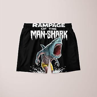Rampage of the man-shark shorts