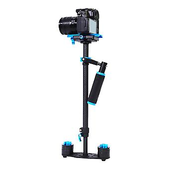 YELANGU 38.5-61cm Carbon Fiber Handheld Stabilizer for DSLR & DV Digital Video & Cameras, Capacity Range 0.5-3kg(Blue)