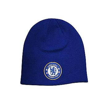Chelsea FC Football Supporter Fan Rolldown Beanie Hat Royal Blue