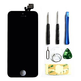 Lcd Display Touch Screen Digitizer Glass Lens Assembly Repair Replacement For Iphone 5c Black + Free Tools