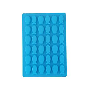 Kék TRP Candy & Csokoládé formák Hal alakú penész konyhai eszközök gyerekeknek