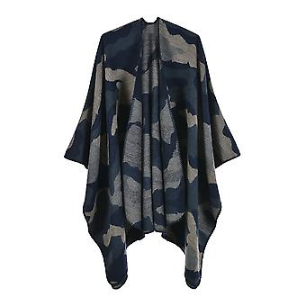 Ladies Autumn And Winter Plus Size Camouflage Green Warm Scarf Blanket Shawl