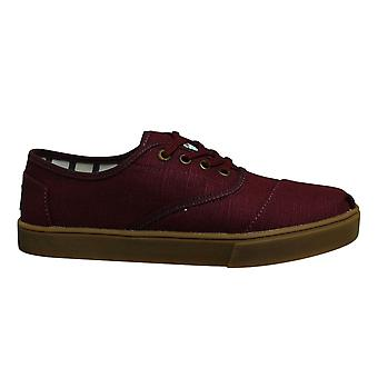 Toms Cordones Raisin Red Heritage Canvas Cupsole Mens Trainers 10014459