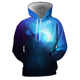 Mens 3d Colorful Galaxy Printed Denim Hoodies With Pockets
