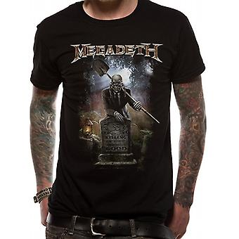 Megadeth Unisex Adults 35 Years Graveyard Design T-Shirt
