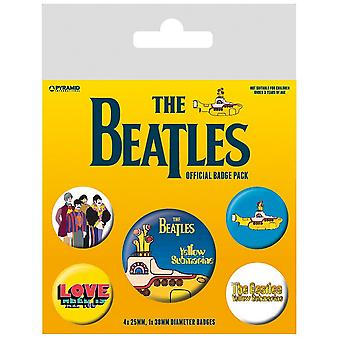 The Beatles Yellow Submarine Badge Set (Pack of 5)