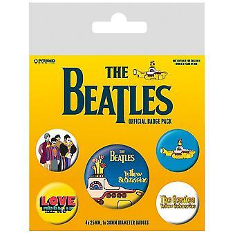 Beatlesin keltainen sukellusvenemerkkisarja (5 kpl pakkaus)