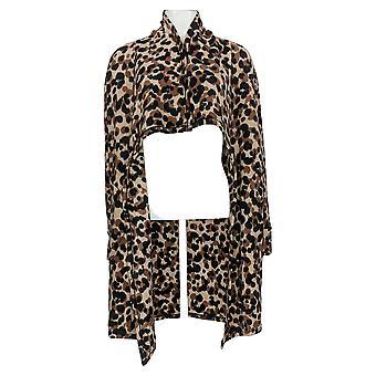Cuddl Duds Women's Sweater Fleecewear Stretch Cascade Front Bege A369840