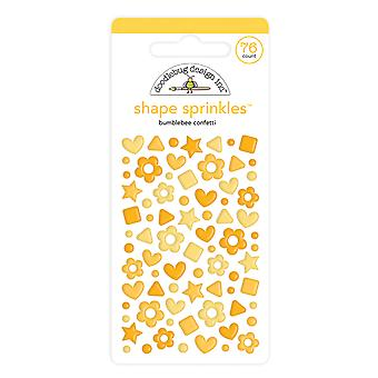 Doodlebug Diseño Bumblebee Confeti Forma Sprinkles