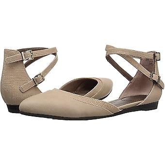 LifeStride Womens 38947S1 Leather Closed Toe Ankle Strap Espadrille Flats