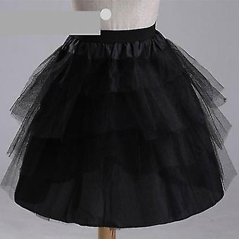Short Petticoats 3 Layers Hoopless Short Flowermal Dress Crinoline