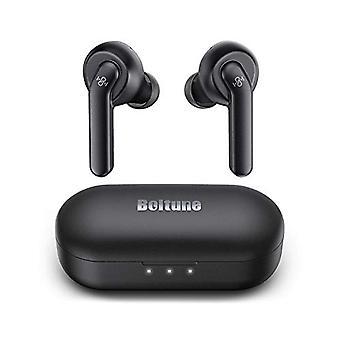 Langattomat nappikuulokkeiden aktiivinen melunvaimennus, Boltune Bluetooth -nappikuulokkeita, joissa on 4 mikrofonia, älykäs melunvaimennus selkeille puheluille, parannettu syväbasso, IPX8 Vedenpitävä, USB-C-pikalatauskotelo