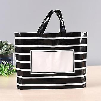Black White Stripe Clothing Bag