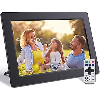 Digital Photo Frame 10.1 Inch with Remote Control IPS Screen Photo Music