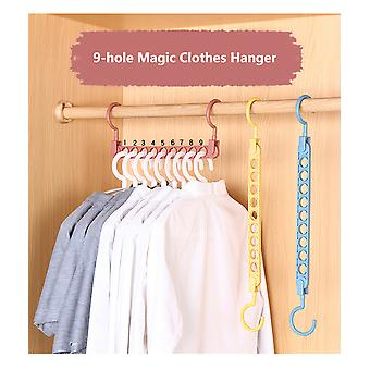 9-hole Clothes Drying Rack Multifunction Plastic Clothes Rack Circle Clothes Hanger Home Storage Hangers