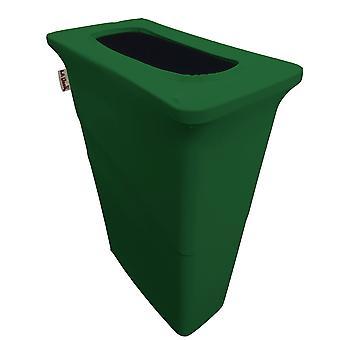 La Leinen Stretch Spandex Trash kann Abdeckung für schlanke Jim 23-Gallone, Smaragdgrün