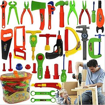 Children's Play Simulation Maintenance Tools Mobile Toolbox Set