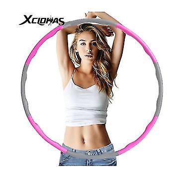 Розовый 1кг регулируемый мягкий взвешенный Хула обруч Фитнес кольцо для детей и взрослых